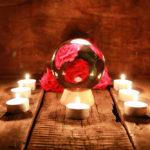 水晶球のご紹介・ブラジル産トルマリン水晶 11.8センチ